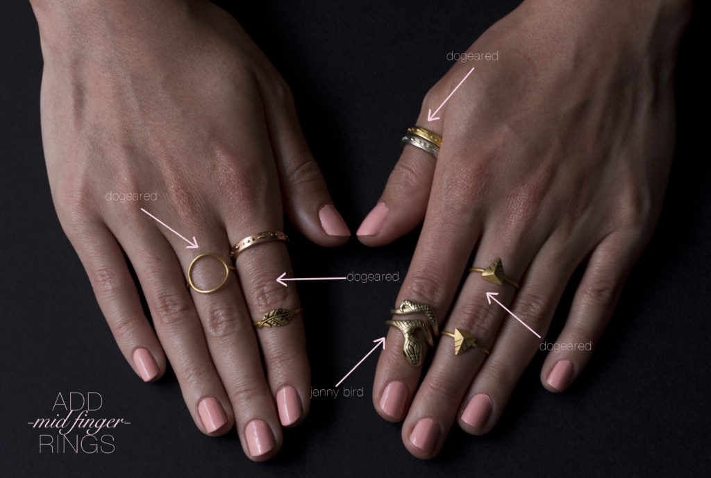 How to wear a lot of rings What finger to wear a ring on female