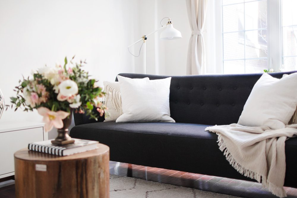 living room makeover with artemano the blondielocks