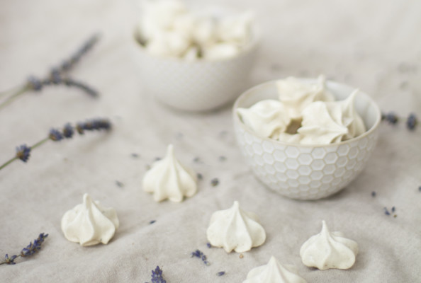 Lavender Meringues