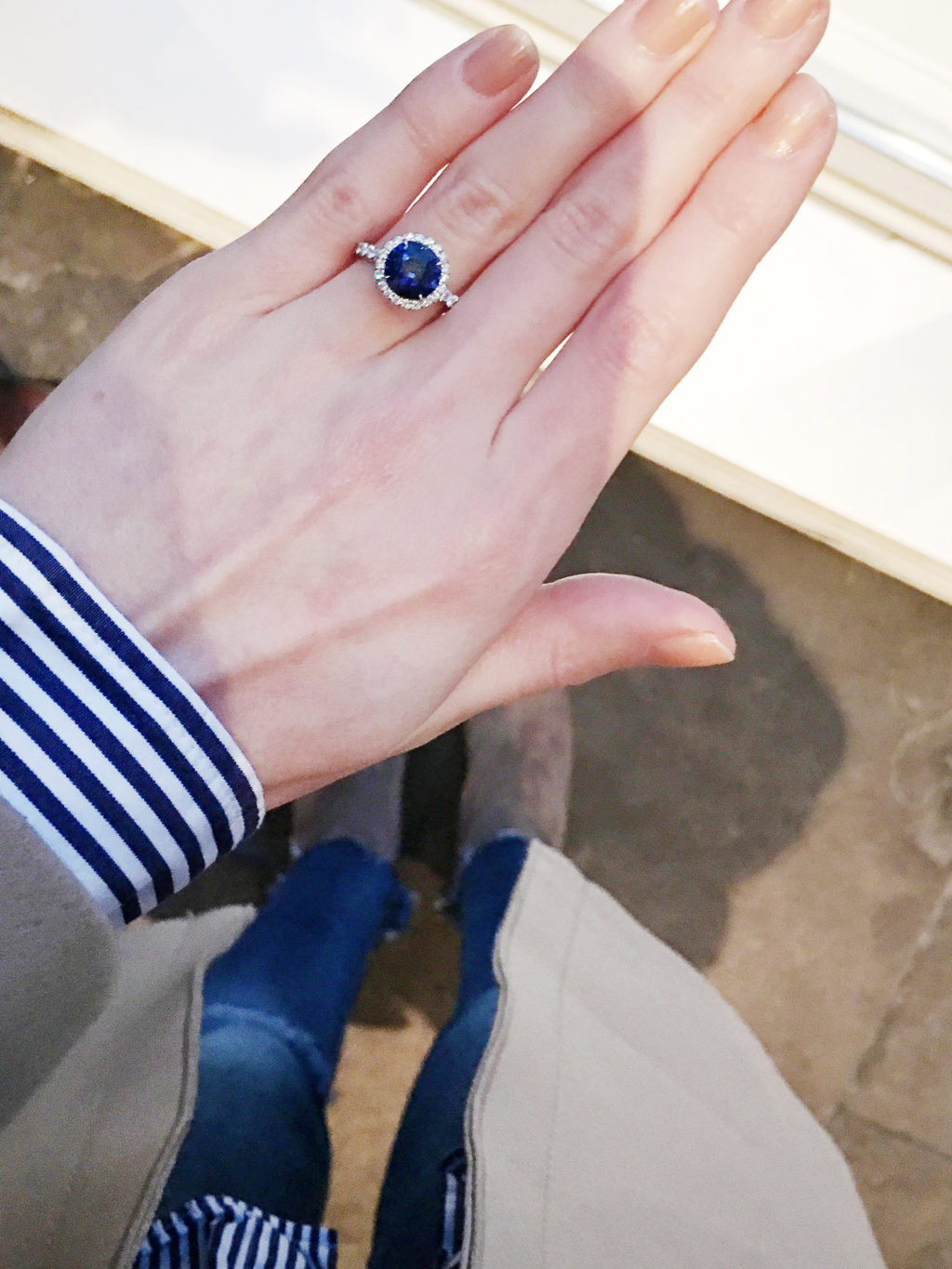 the blondielocks toroto based fashion and lifestyle blog. the blondielocks wearing david yurman. david yurman. david yurman. DY Capri Engagement Ring with Blue Sapphire in Platinum, Cushion. David Yurman Capri Engagement Ring with Blue Sapphire in Platinum, Cushion