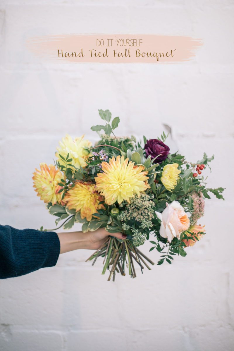 How To Make A Fall Floral Bouquet The Blondielocks Life Style