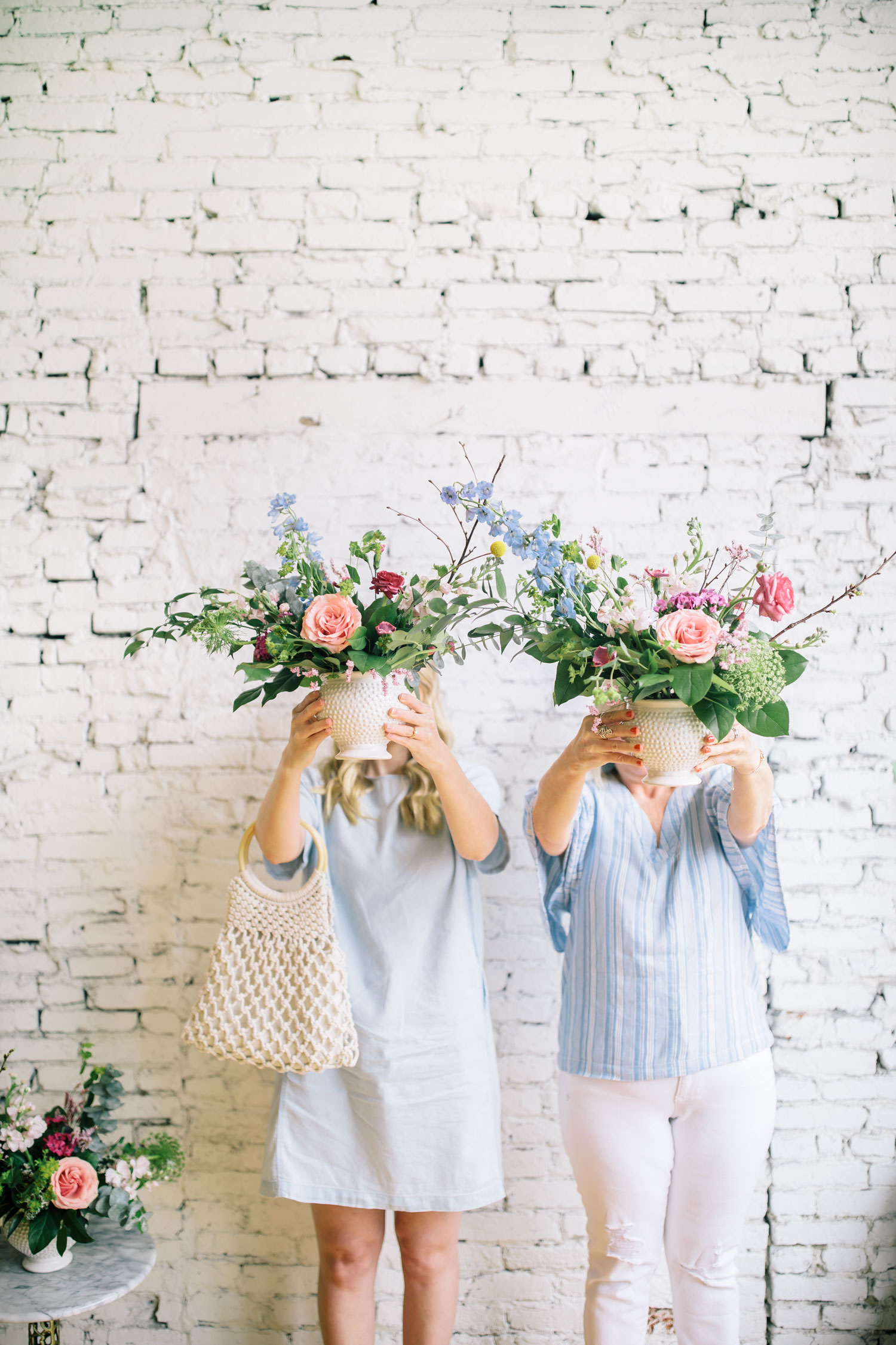 Mother-Daughter Flower Arranging