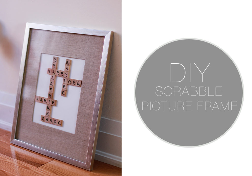 Diy Scrabble Board Picture Frame The Blondielocks Life Style
