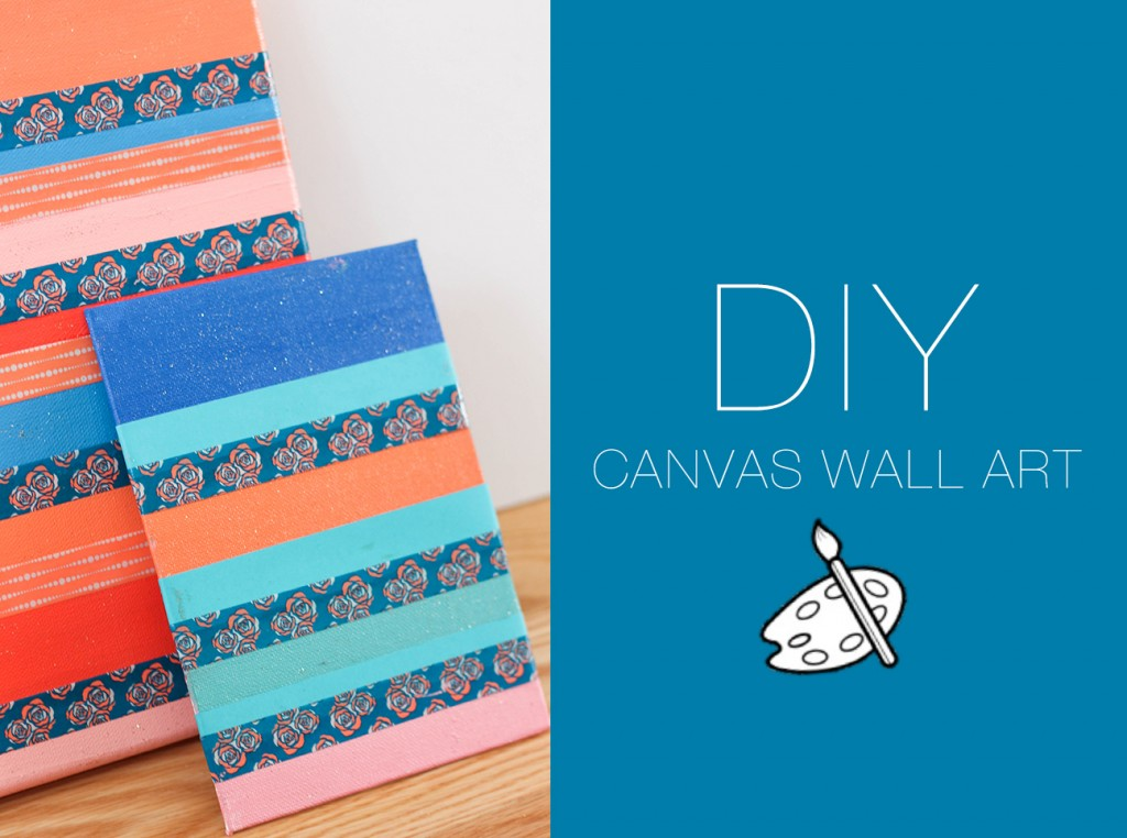 Diy canvas wall art the blondielocks life style Diy canvas art