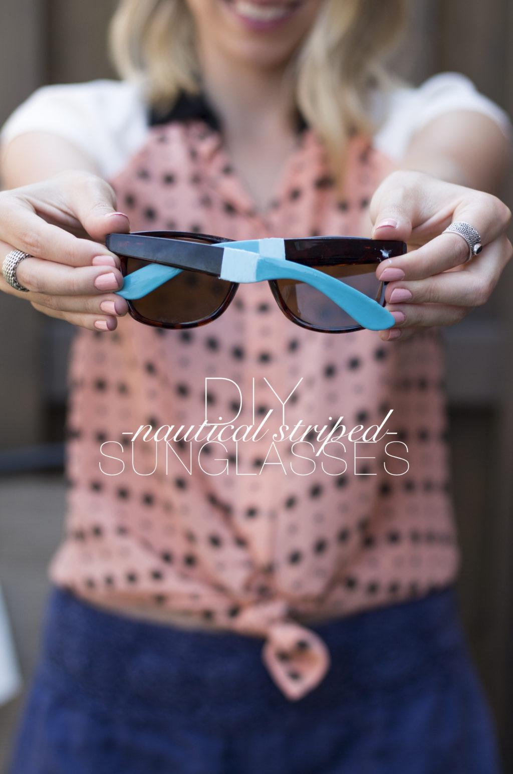 f9bf4e8509 DIY: Nautical Striped Sunglasses | The Blondielocks | Life + Style