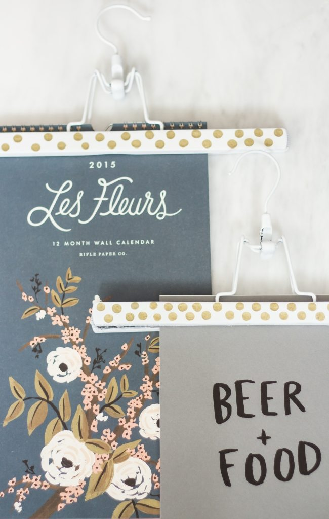 Diy Calendar Hanger : Diy coat hangers to calandar holder the blondielocks