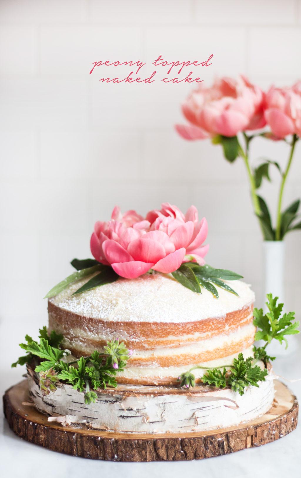 Strawberry And Cream Rustic Cake