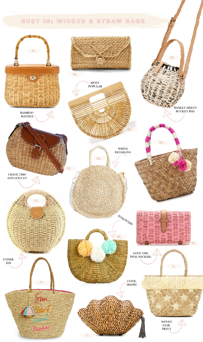1 Bamboo Handle Wicker Satchel J Mclaughlin 2 Angela Straw Clutch 3 Handwoven Mini Crossbody Bag Sea And Grass 4