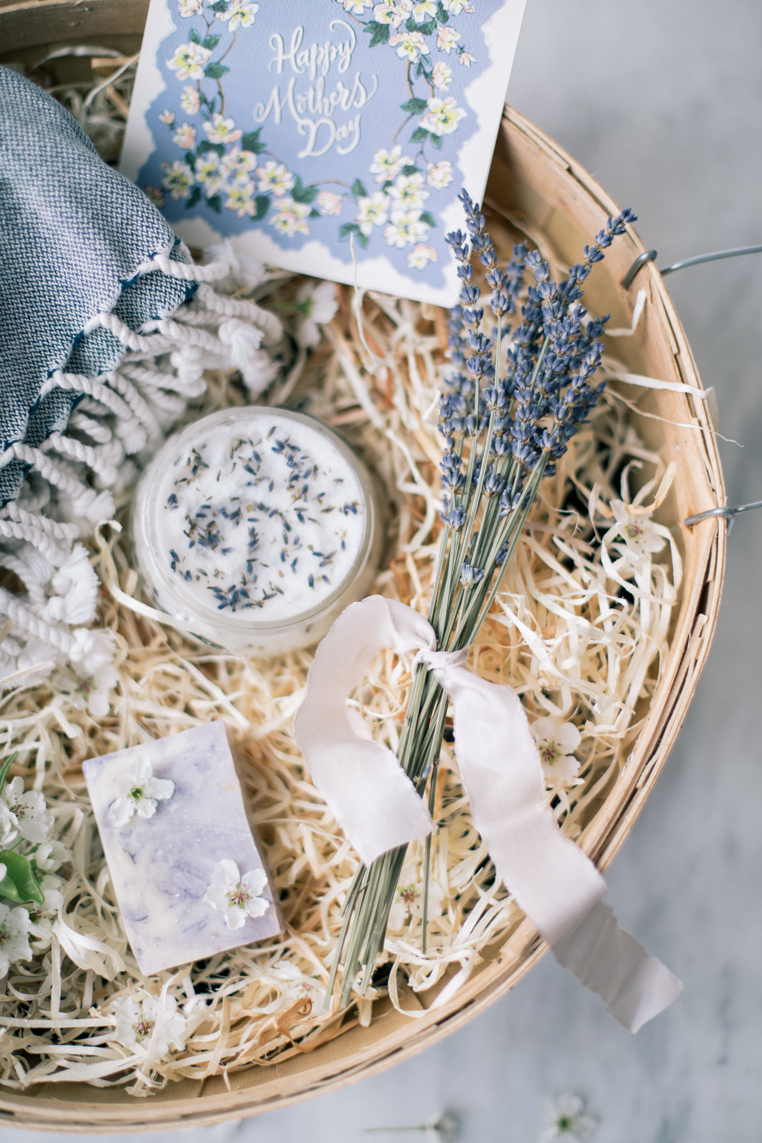 Mother S Day Lavender Basket Diy Lavender Body Scrub