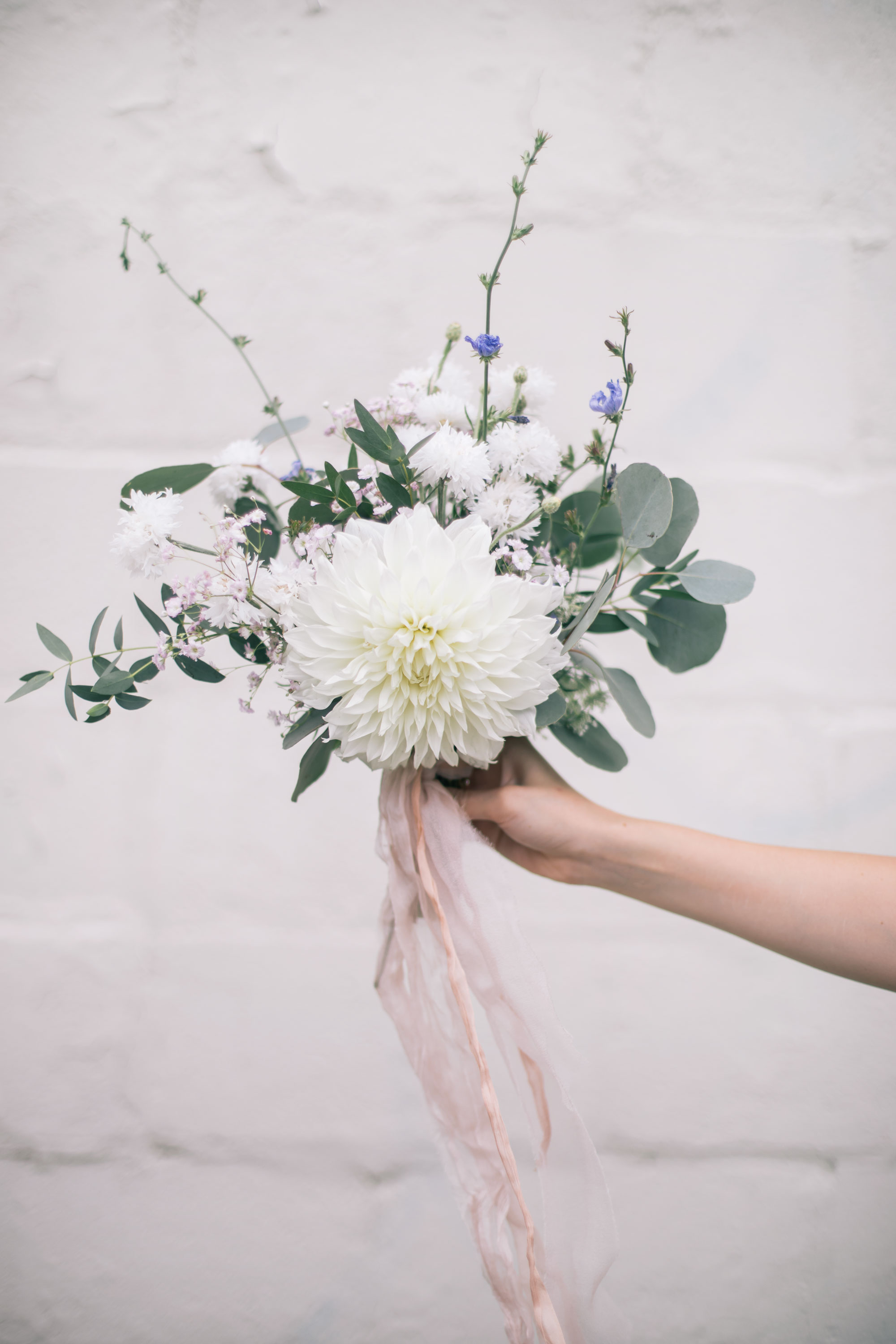 How To Make A Hand Tied Garden Inspired Flower Bouquet The
