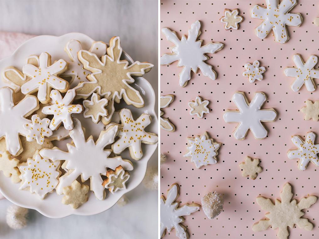 The Easiest Snowflake Sugar Cookies