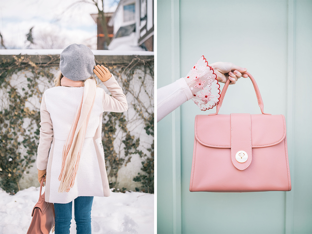 55421dba9a7 Wearing pastels through accessories is an easy way to incorporate them into  your winter wardrobe. One of favourite ways to do this is to mix and match  ...