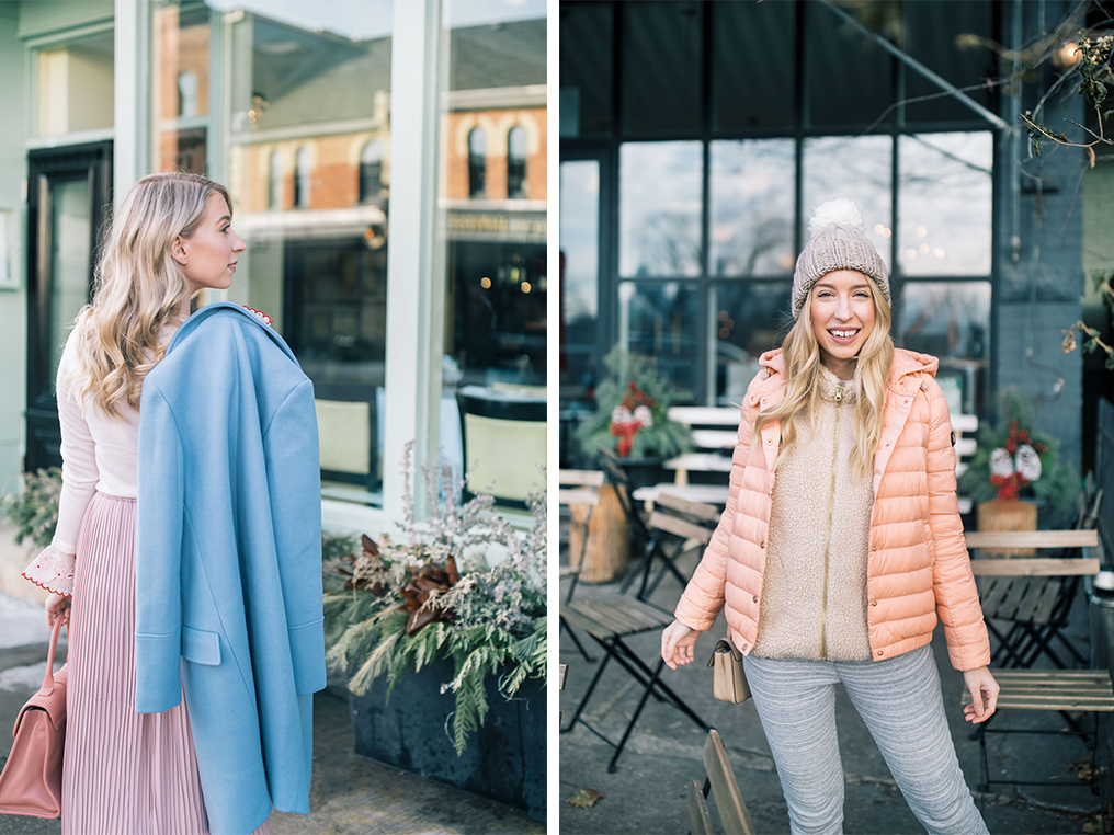 9810428cbfe Another great way to add pastels into your rotation is with a great pastel  coat or jacket! I love the look of a neutral outfit topped with an  unexpected ...