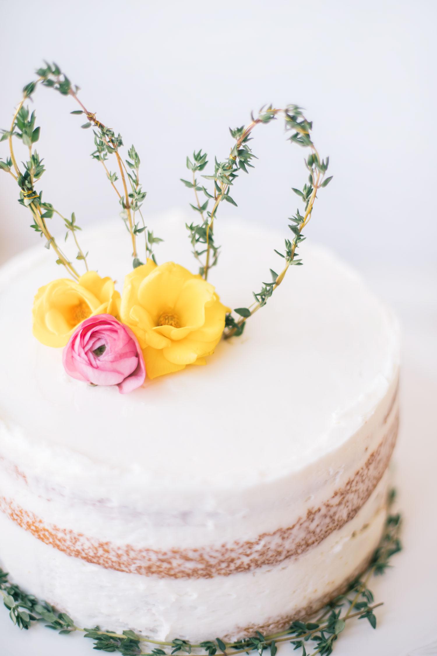 DIY: Thyme Bunny Ear Cake Topper