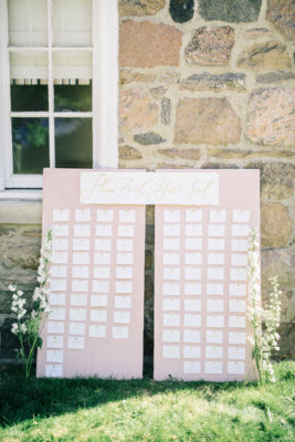 DIY Linen Wrapped Seating Chart