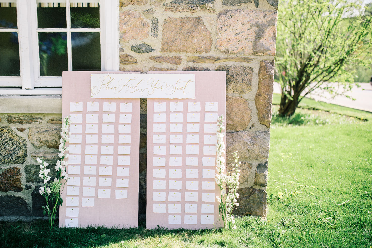 My Diy Wedding Seating Chart The Blondielocks Life Style