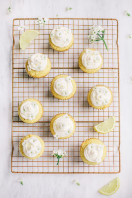 Lemon Elderflower Cupcakes