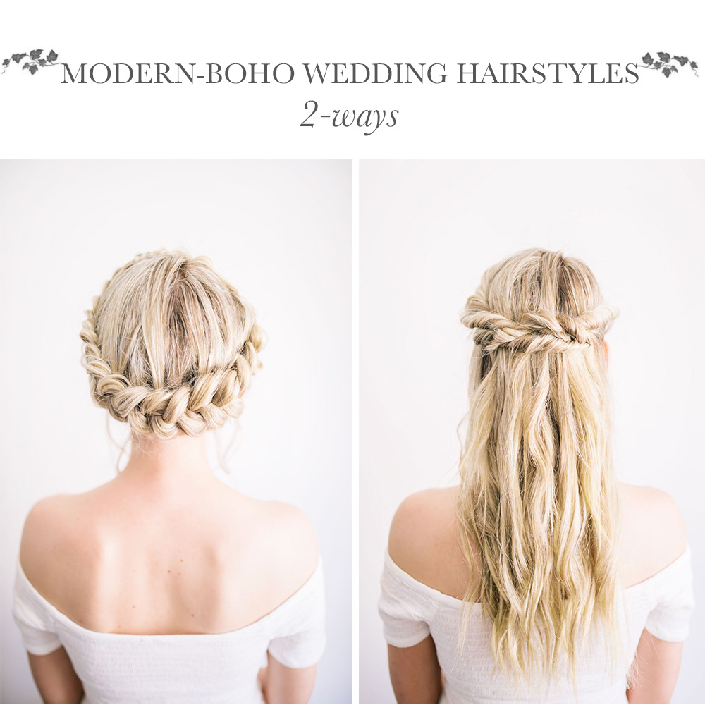Wedding Hairstyles Diy: DIY Modern-Boho Wedding Hairstyles