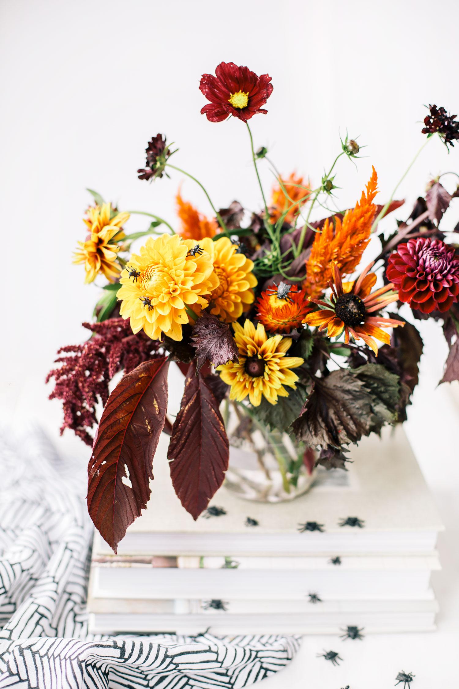 How To Make An Eerie Halloween Flower Arrangement The Blondielocks Life Style