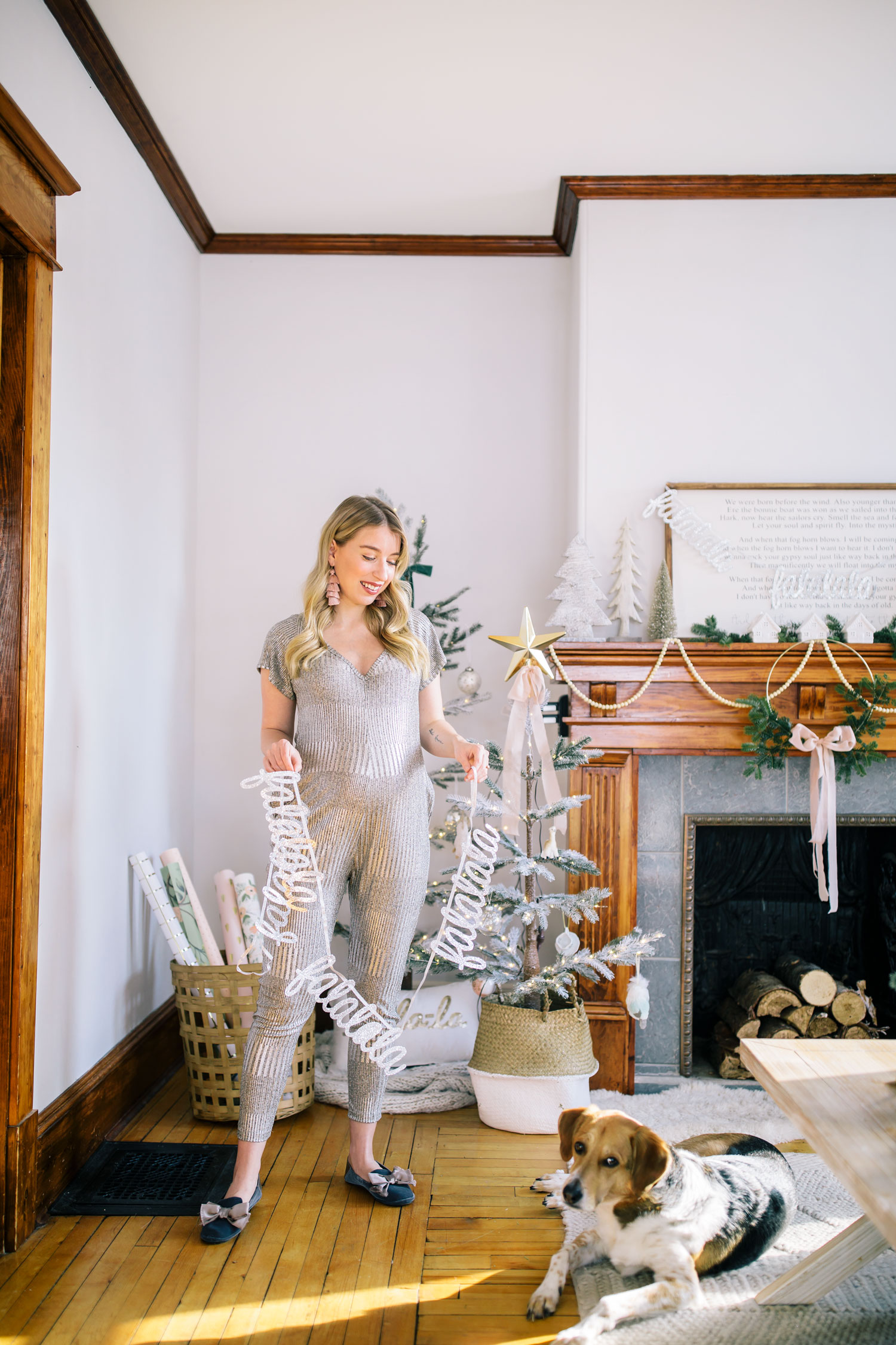 Smash Amp Tess Holiday Romper And Our 2018 Holiday Home Tour